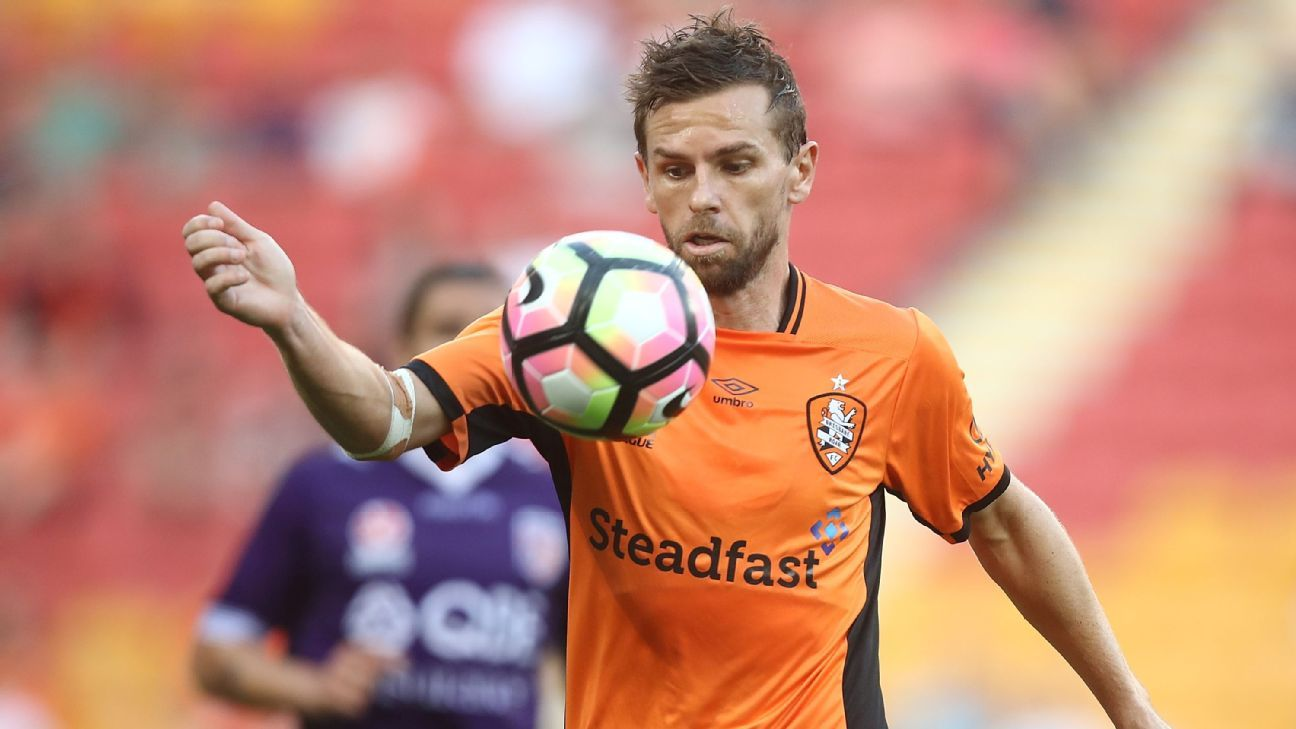 Brisbane Roar striker Brett Holman