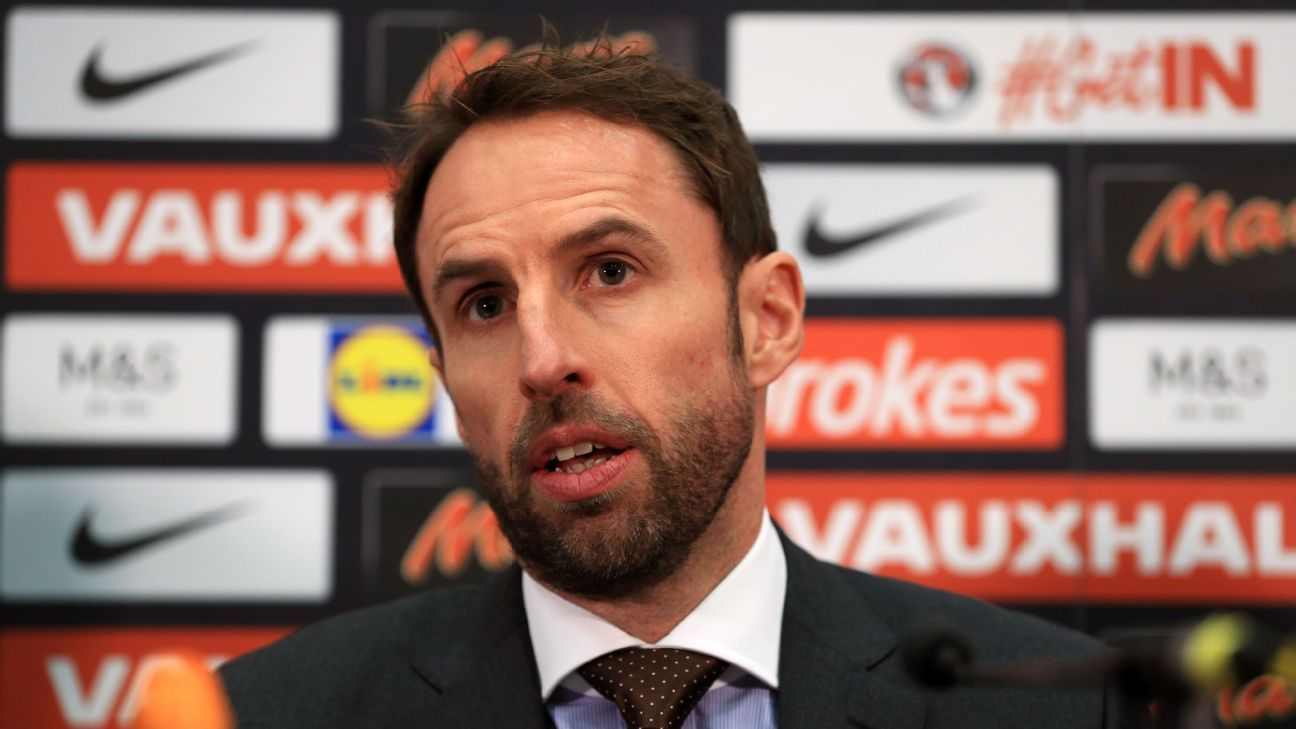 Gareth Southgate addresses the media for the first time as permanent manager of the England national team.