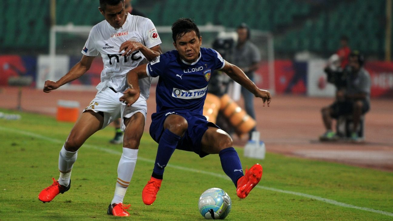 Defender Jerry Lalrinzuala (right) was retained by Chennaiyin FC ahead of the draft, in which most teams began with a goalkeeper or a defender.