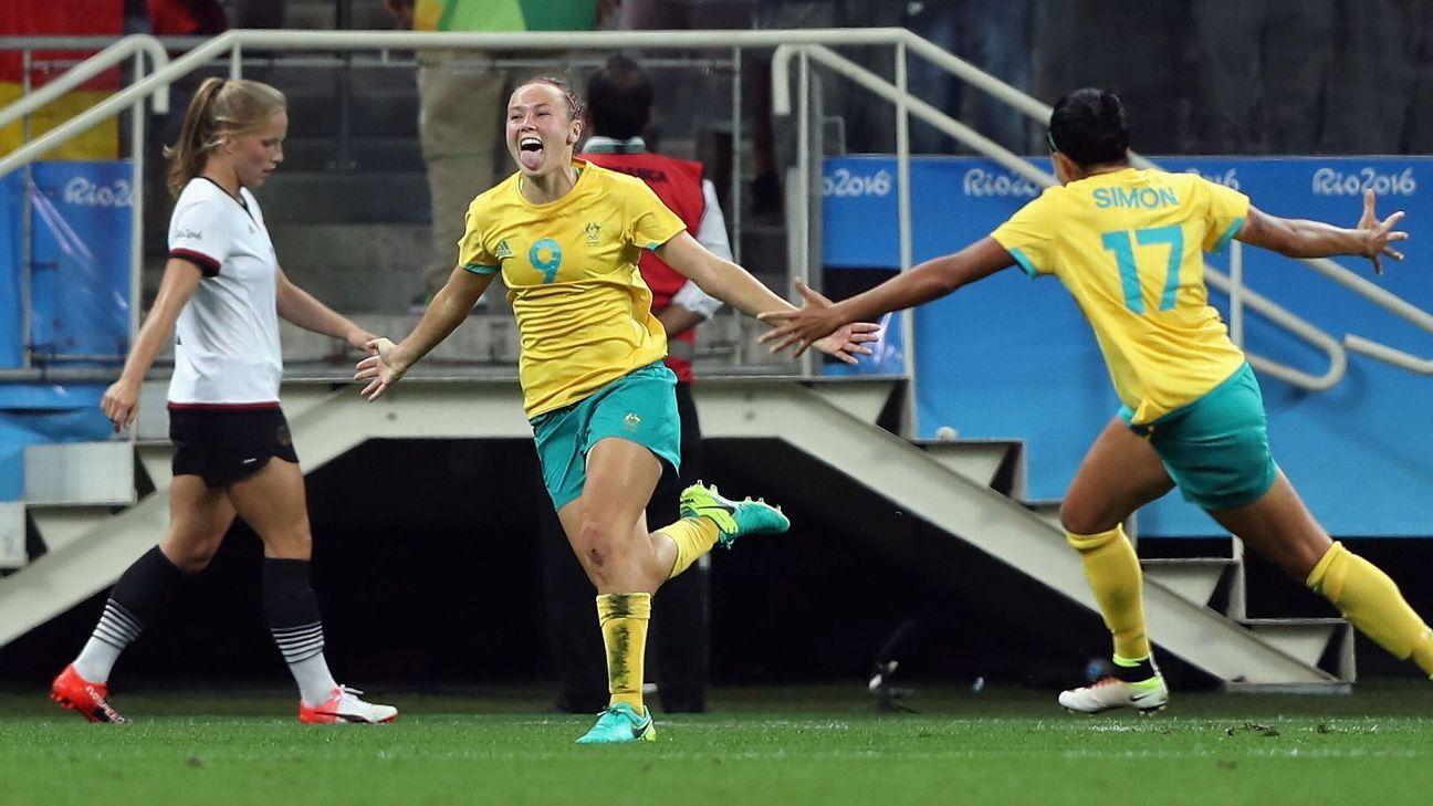 Australia striker Caitlin Foord