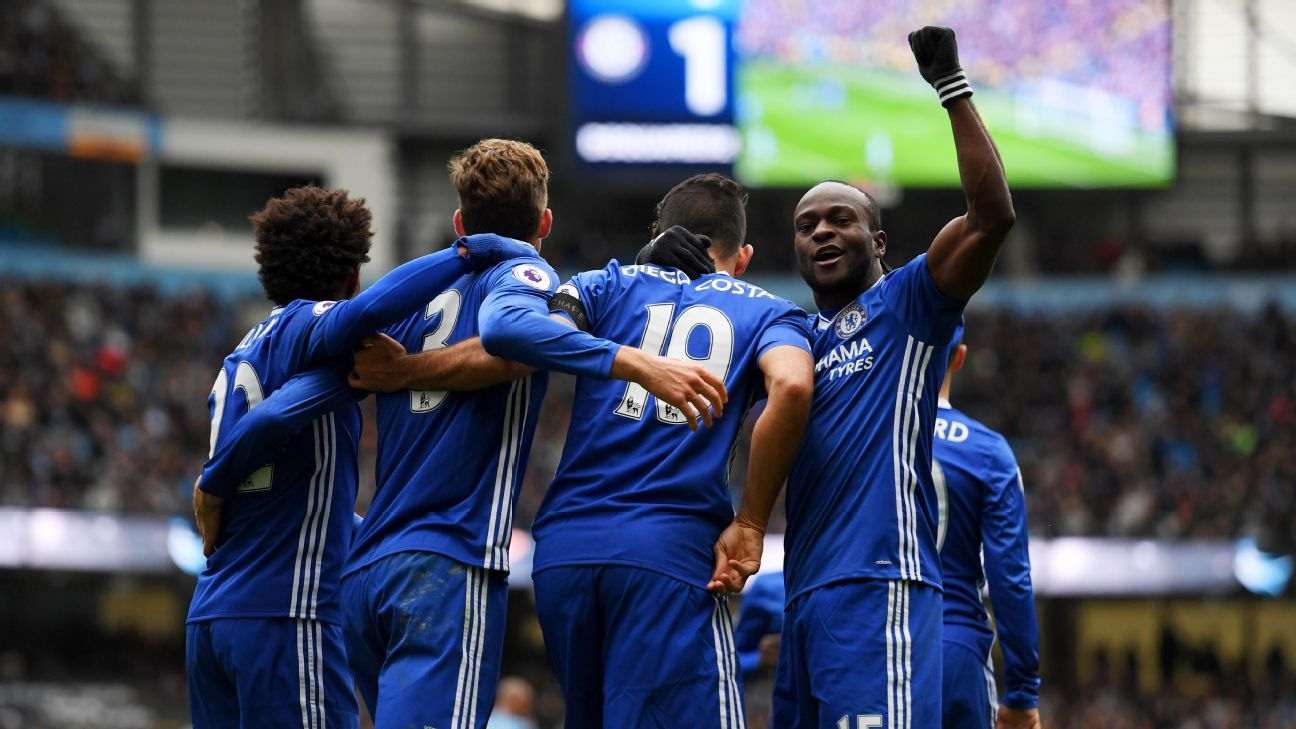 Chelsea proved too much for Manchester City at the Etihad Stadium.