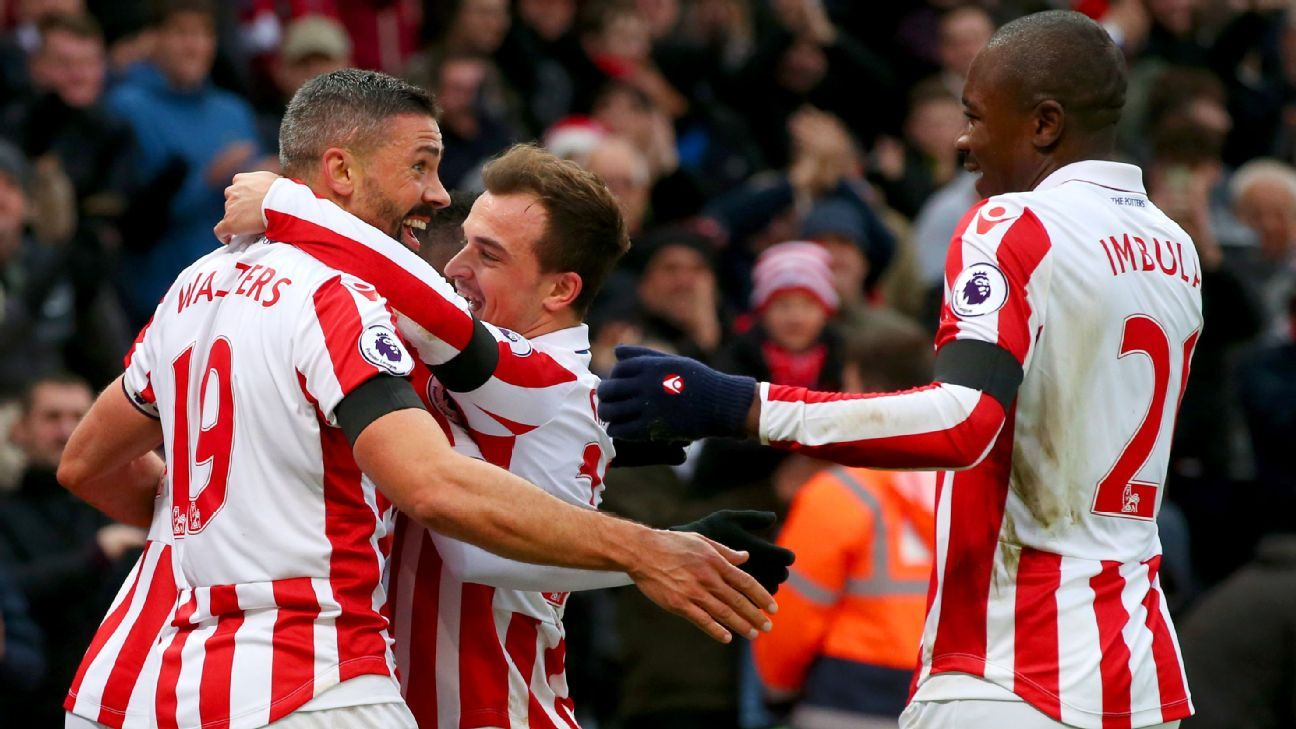Jonathan Walters opened the scoring for Stoke City.