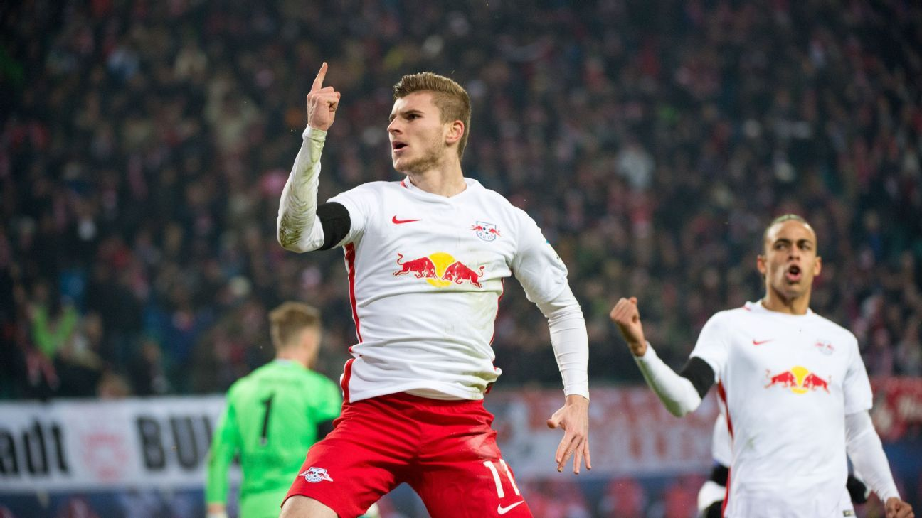 Timo Werner and Leipzig stayed unbeaten by defeating Schalke.