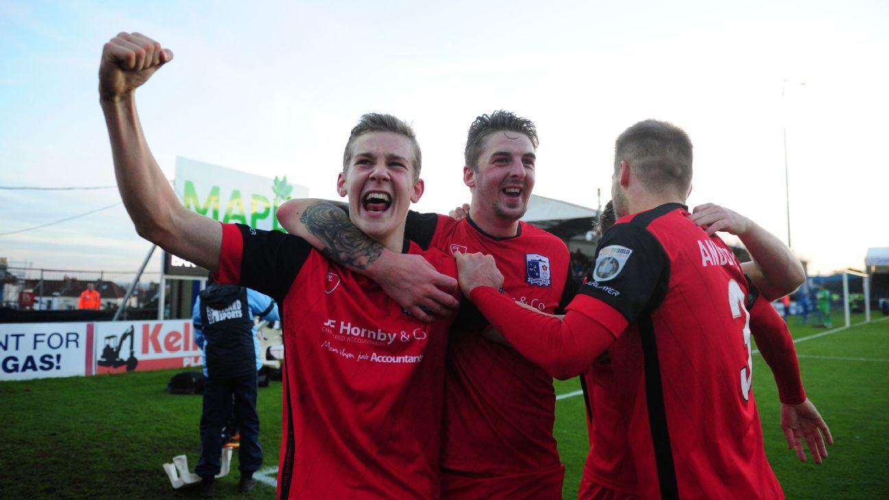 Barrow FA Cup celeb