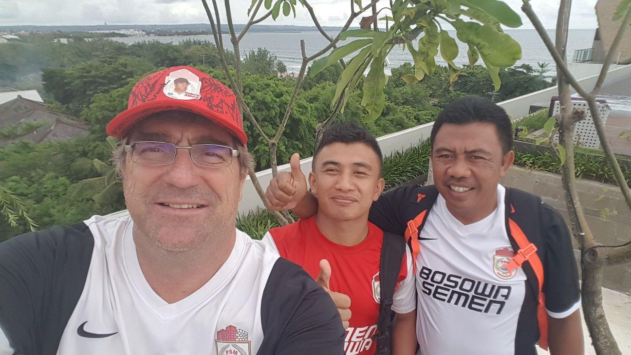 PSM Makassar coach Robert Alberts in Bali