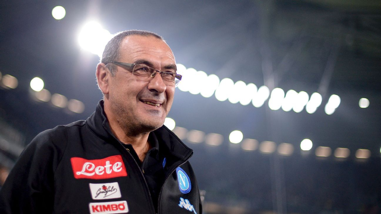 Maurizio Sarri was praised for the attacking brand of football he brought to Napoli.