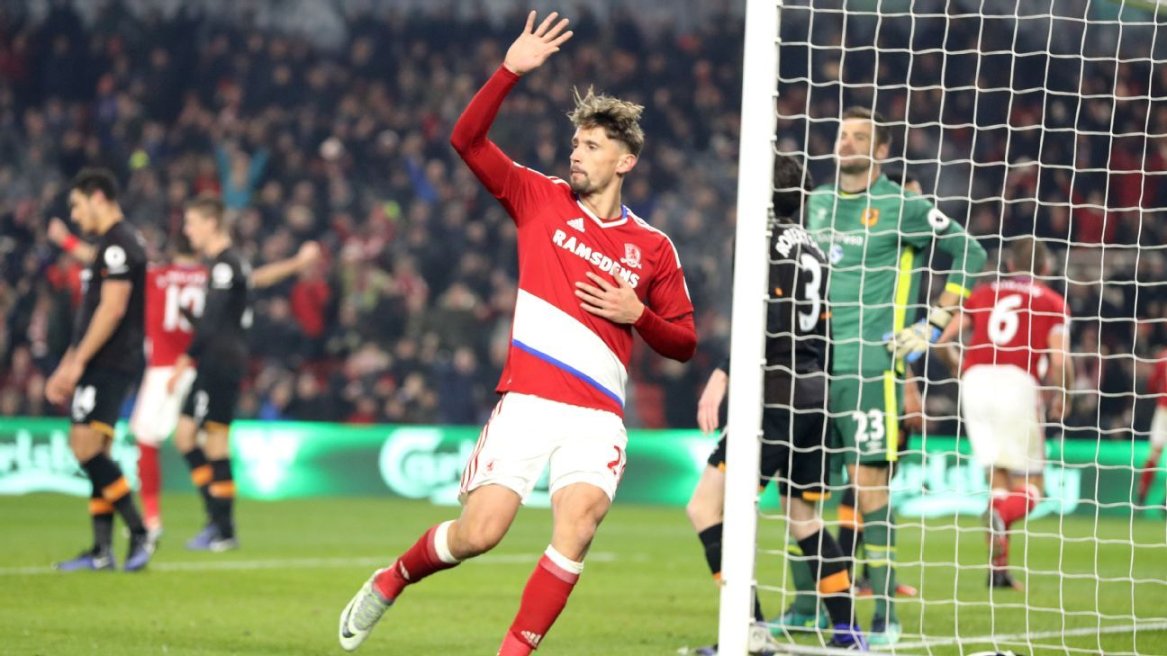 Gaston Ramirez scored the only goal in Boro's victory on Monday.