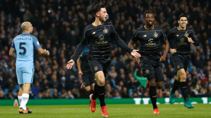 Patrick Roberts scored against his parent club as Celtic managed a draw.