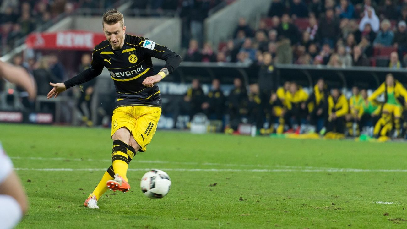 Marco Reus earned a draw for Dortmund on Saturday.