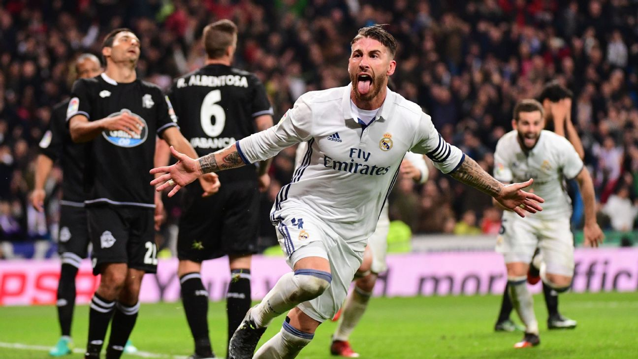 Sergio Ramos headed home Real Madrid's winner in the 92nd minute.