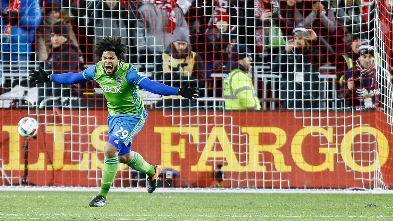 Seattle's Torres marks MLS Cup win with tattoo... of himself
