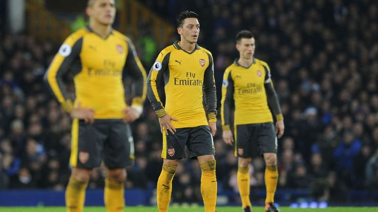 Arsenal woe at Everton