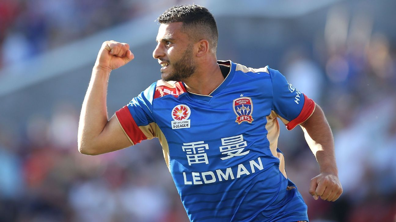 Newcastle Jets winger Andrew Nabbout