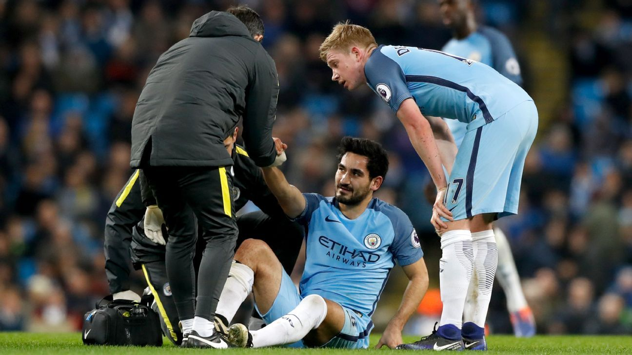 Manchester City s Ilkay Gundogan out with cruciate knee ligament