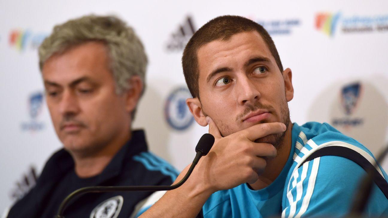 Jose Mourinho and Eden Hazard