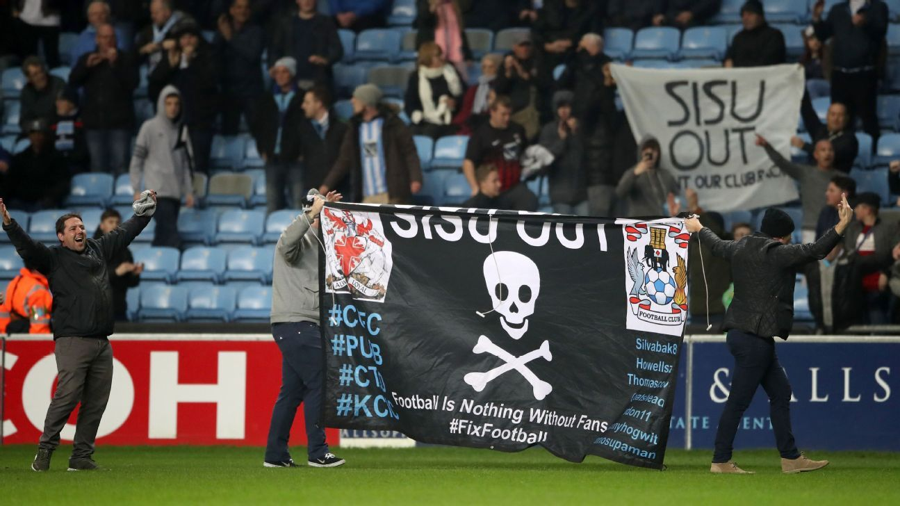 Coventry fans protest 161215