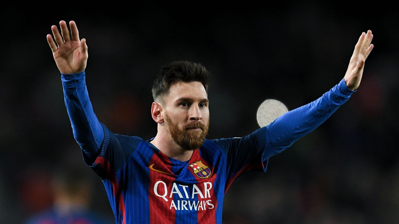 Lionel Messi was key in Barcelona's crushing of Espanyol on Sunday.