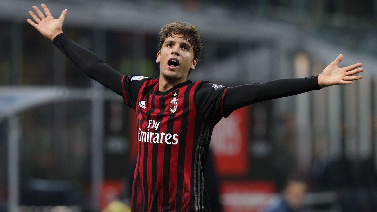 AC Milan midfielder Manuel Locatelli