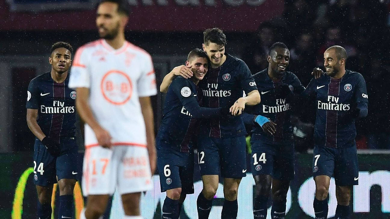 PSG had plenty to celebrate in their 5-0 defeat of Lorient on Wednesday.