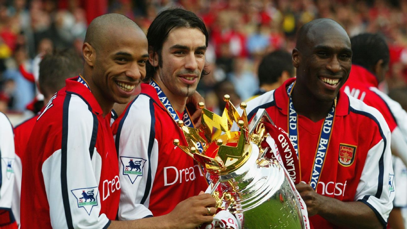 Thierry Henry, Robert Pires and Sol Campbell