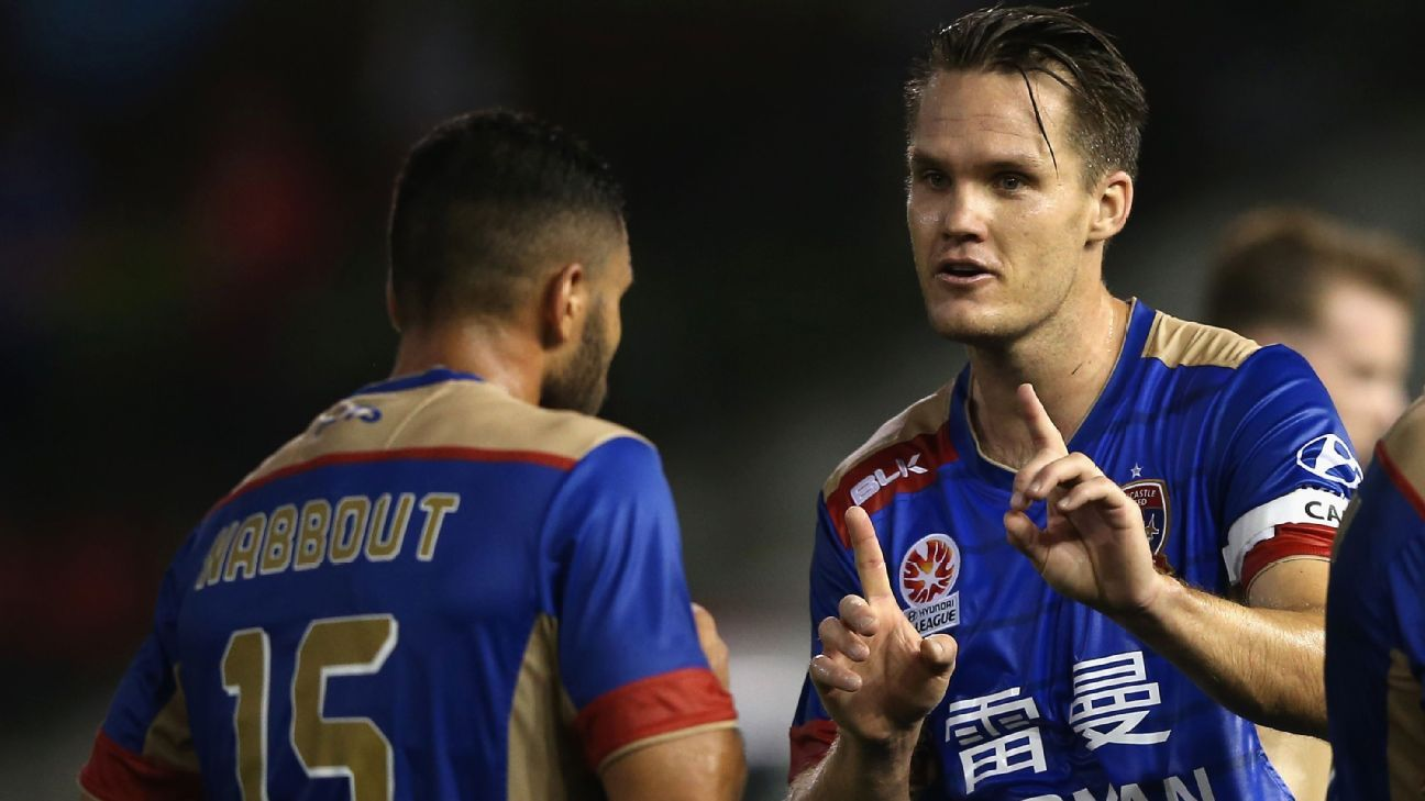 Newcastle Jets' Nigel Boogaard