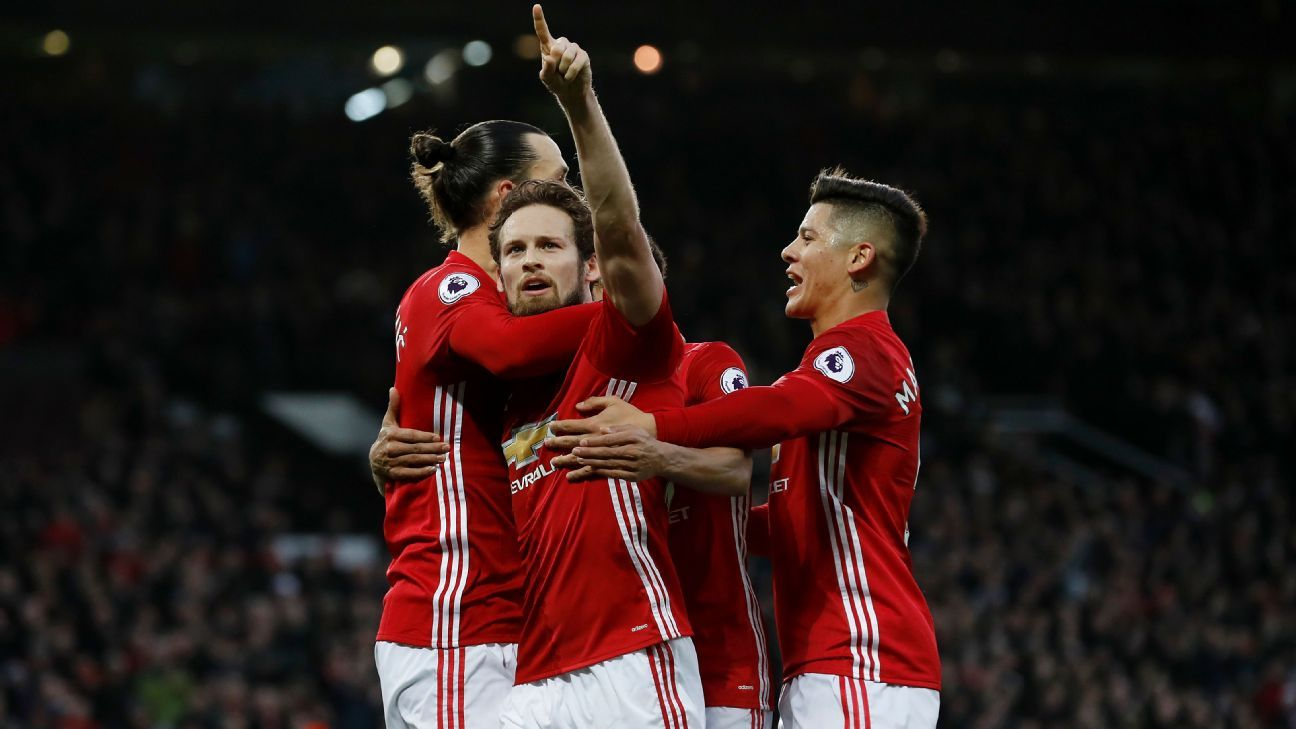 Daley Blind scored the opener for Manchester United.