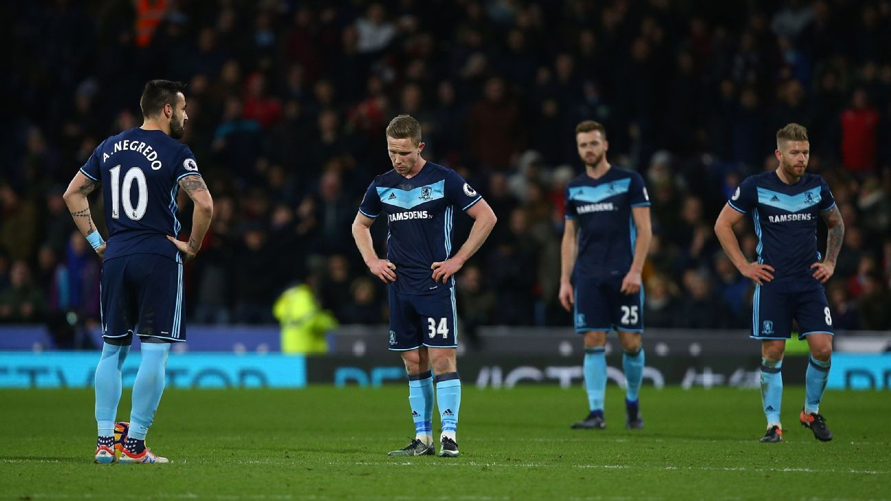 Middlesbrough disappointment
