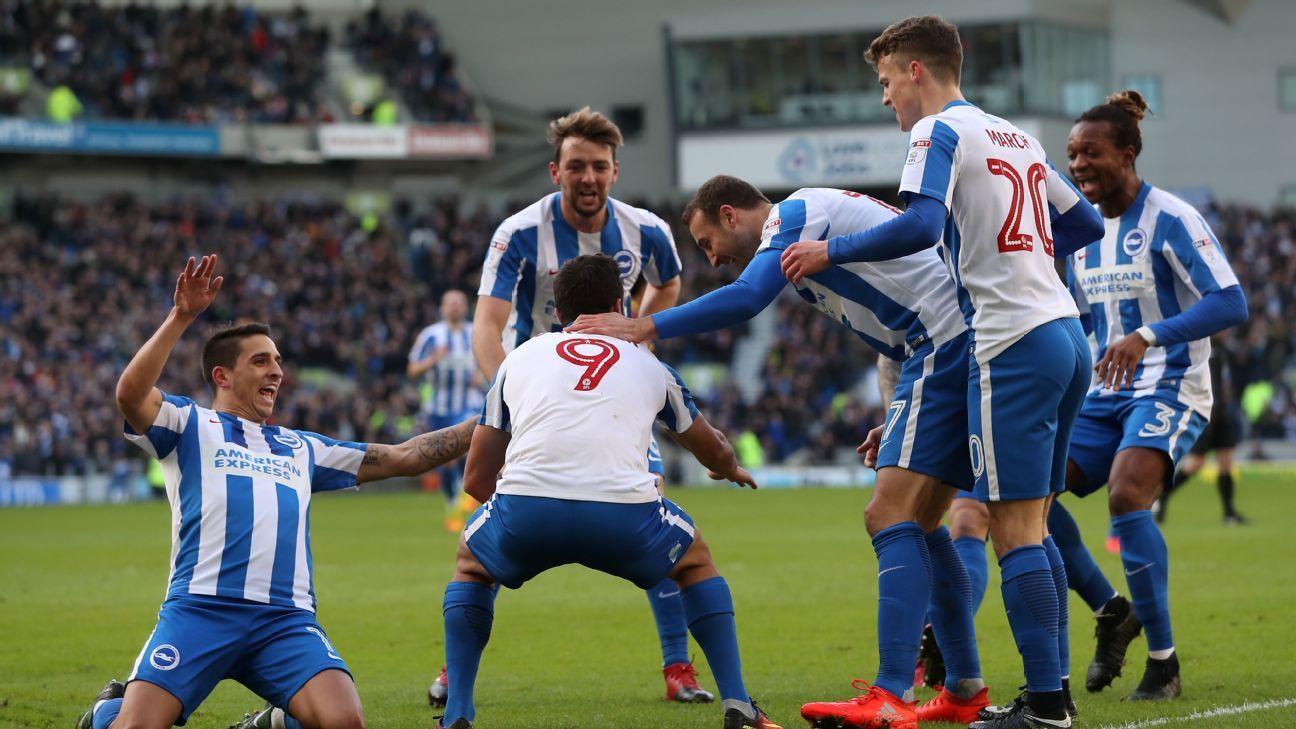Sam Baldock was on target as Brighton triumphed over QPR.