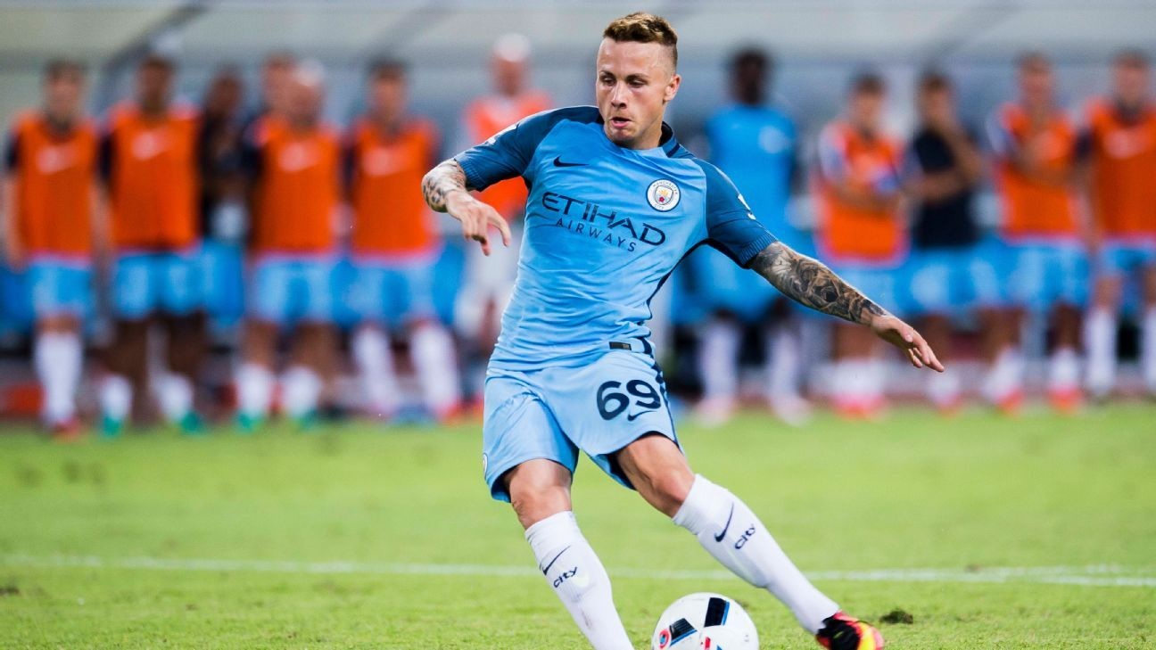 Angelino Tasende has left Manchester City to join Girona on loan.