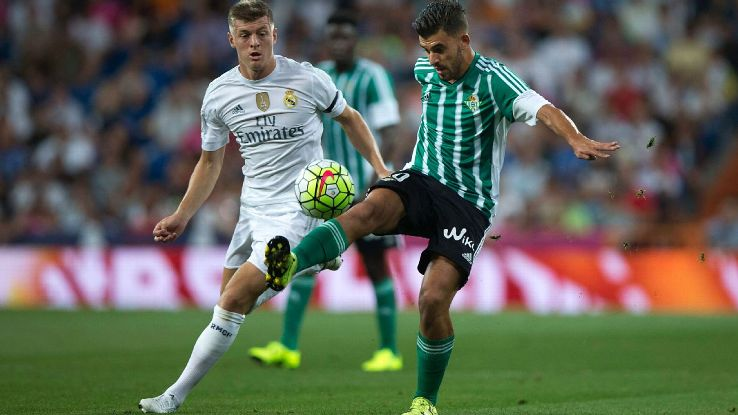 Betis' Dani Ceballos has not looked out of his element when facing Spain's big clubs.