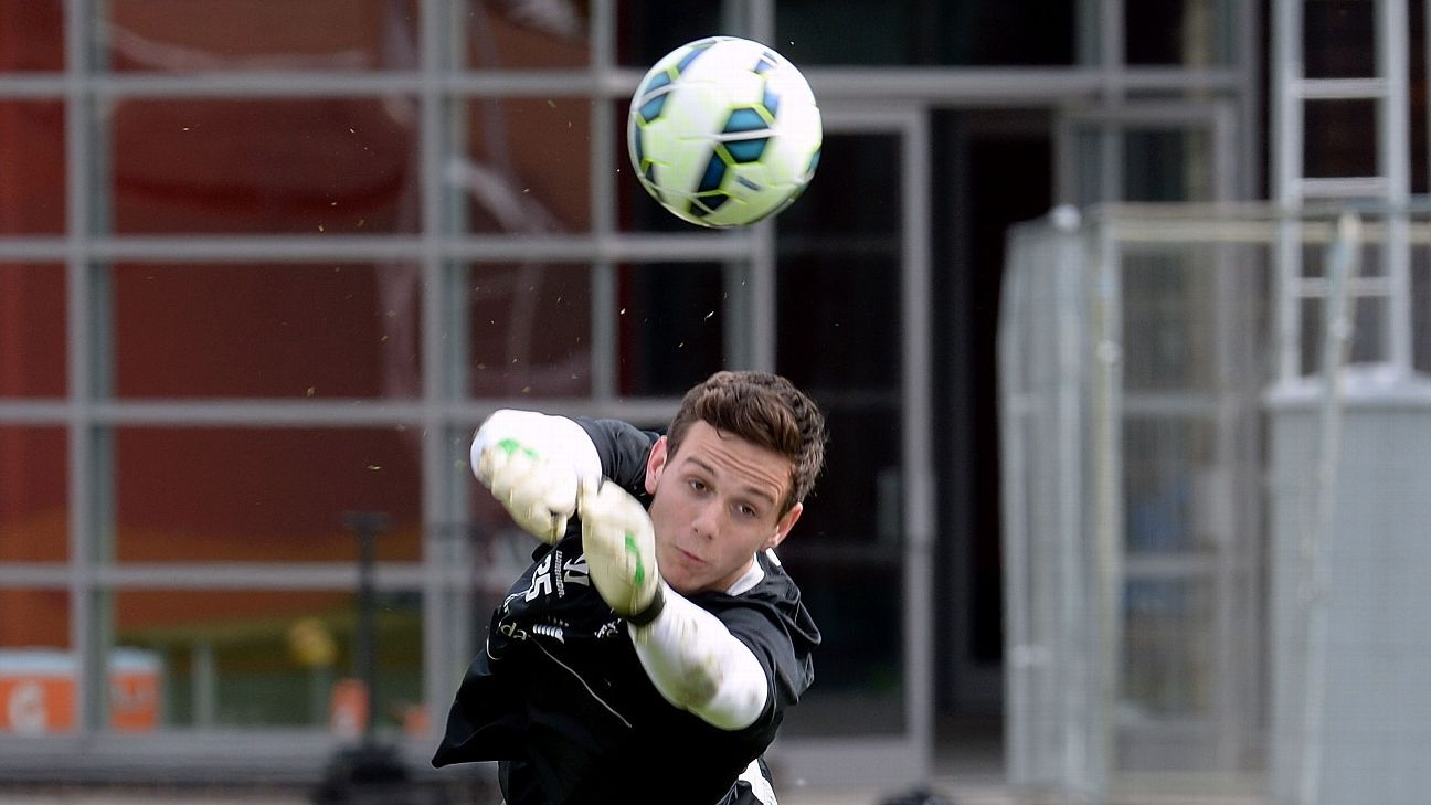 Danny Ward of Liverpool during a training session at Melwood Training Ground on May 8, 2015 in Liverpool, England. (Photo by John Powell/Liverpool FC via Getty Images)