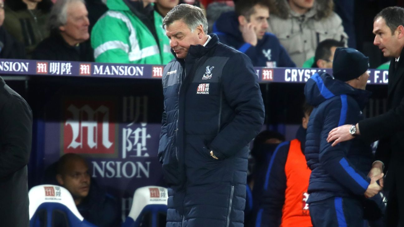 Sam Allardyce and Palace could only manage a goalless draw at Bolton.