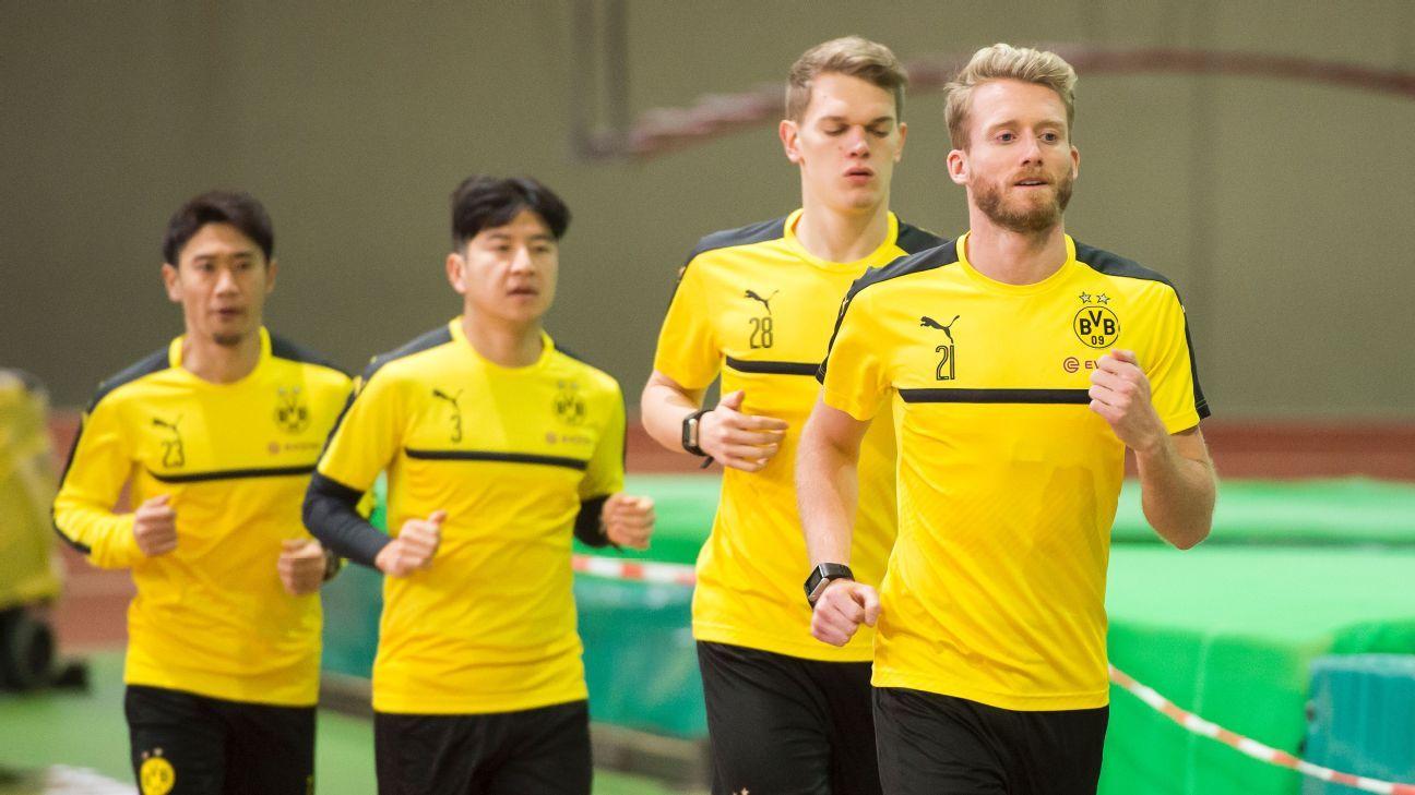 Borussia Dortmund winter break training