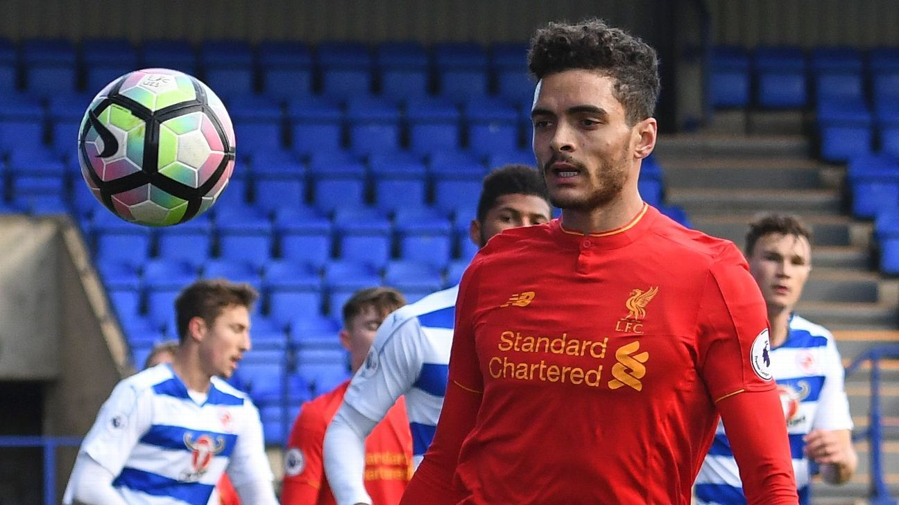 Tiago Ilori in action for Liverpool against Reading in a Premier League 2 game.