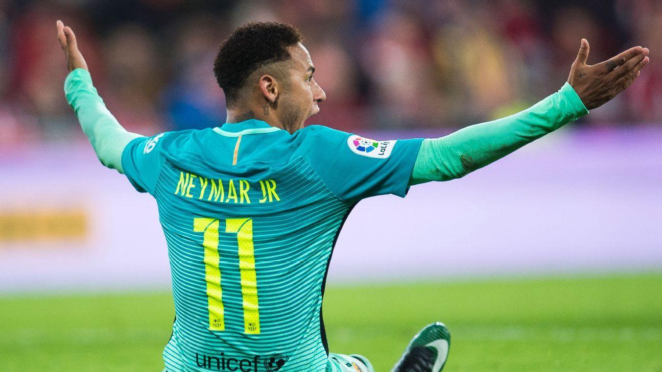 Neymar angry vs Bilbao 170105