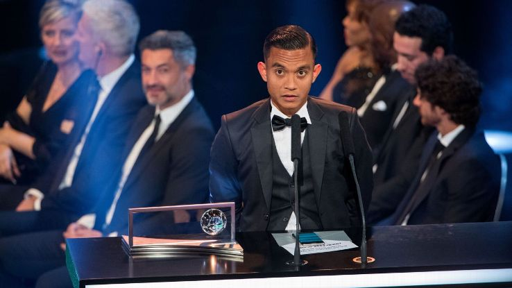 Faiz Subri gives FIFA Puskas speech