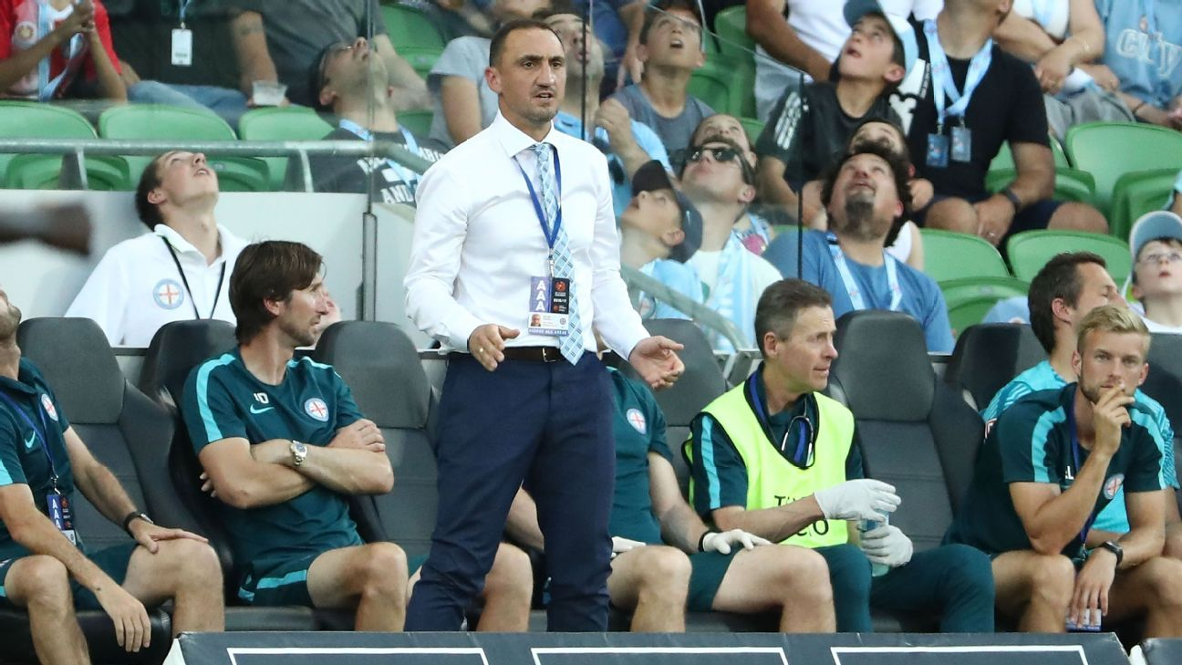 Melbourne City interim coach Michael Valkanis