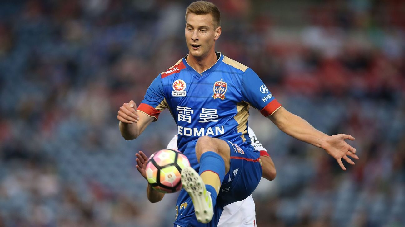Newcastle Jets defender Lachlan Jackson