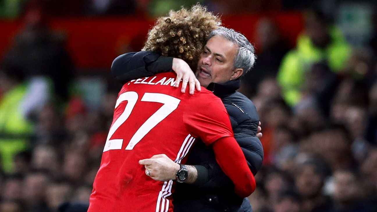 Jose Mourinho is a fan of Marouane Fellaini but the Belgian has yet to sign a new contract at the club.