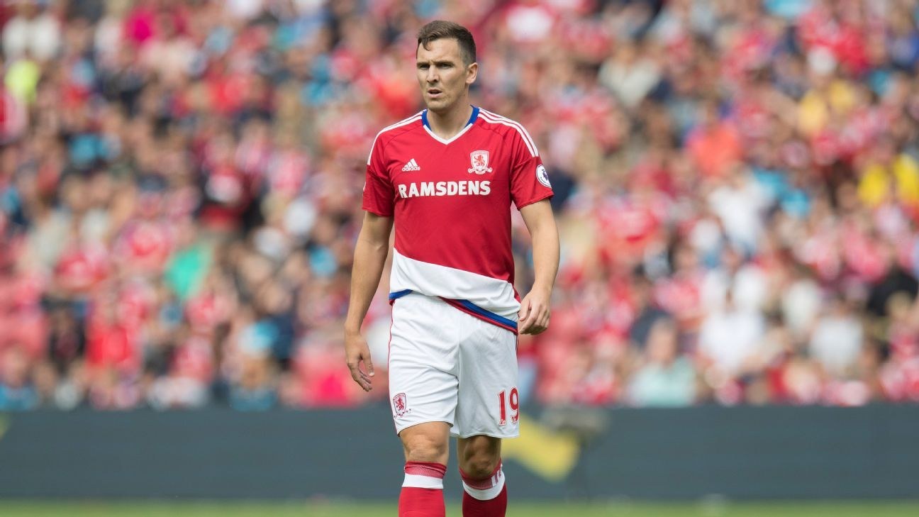 Stewart Downing during Middlesbrough's Premier League match against Stoke City.