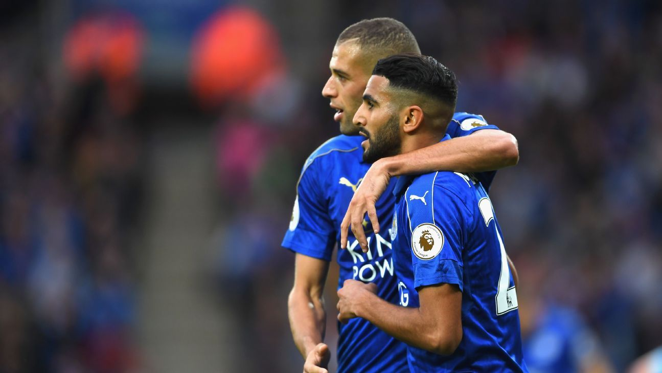 Islam Slimani and Riyad Mahrez