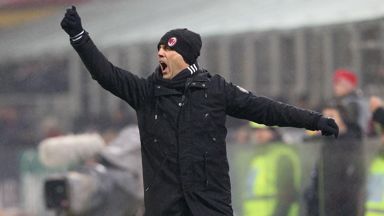 AC Milan coach Vincenzo Montella
