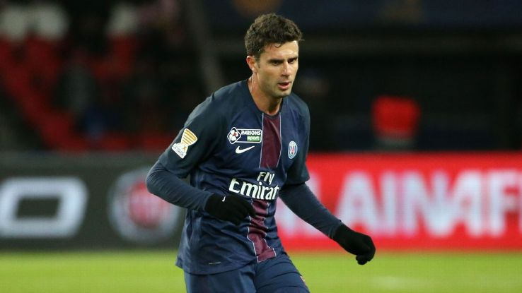 Thiago Motta in action for Paris Saint-Germain during a Coupe de la Ligue game against Metz in January 2017.