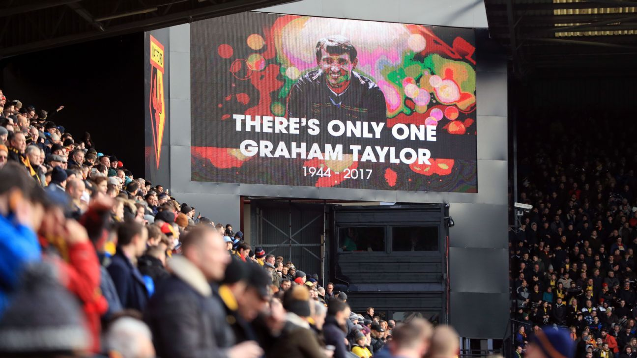 Tributes were paid to Graham Taylor during Saturday's game.