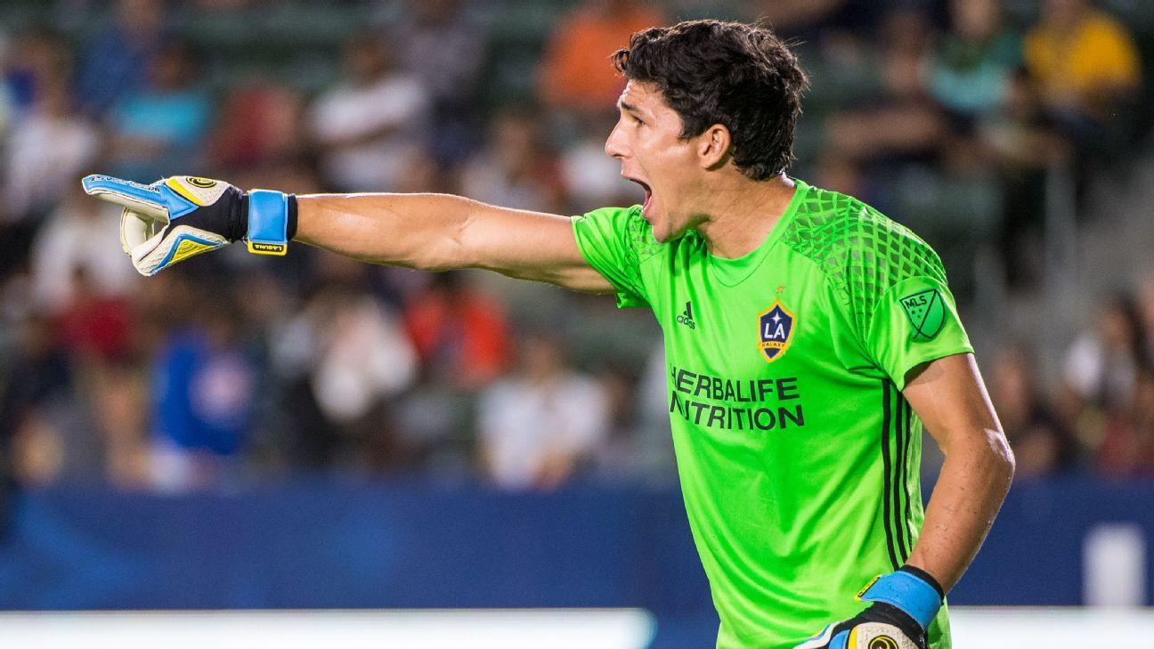 LA Galaxy goalkeeper Brian Rowe
