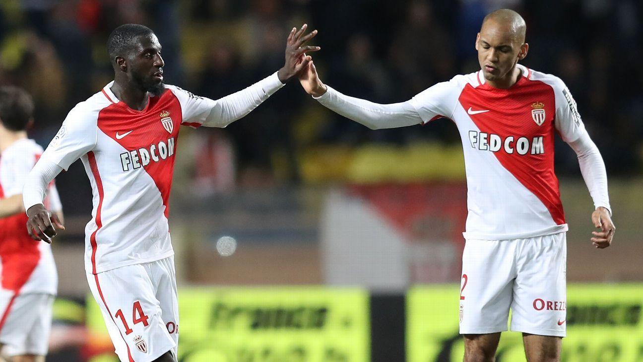 Fabinho and Tiemoue Bakayoko Monaco