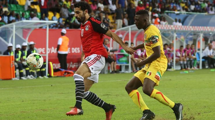 Mohamed Salah and Egypt held off Mali on Tuesday.