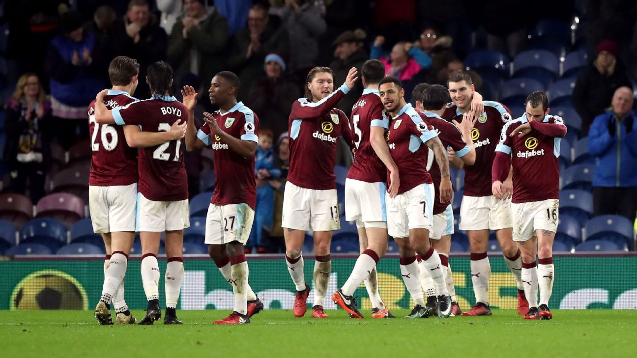 Burnley celebrate Andre Gray's goal in Tuesday's replay at Turf Moor.