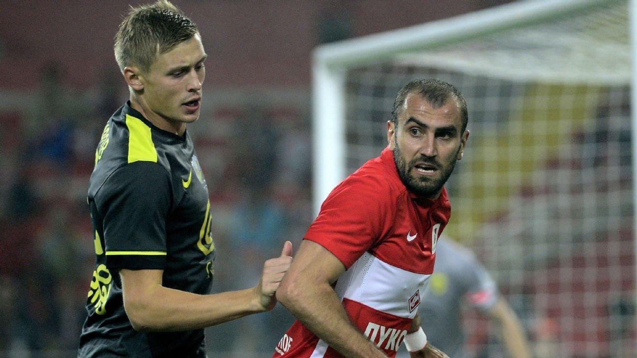Spartak Moscow's Yura Movsisyan