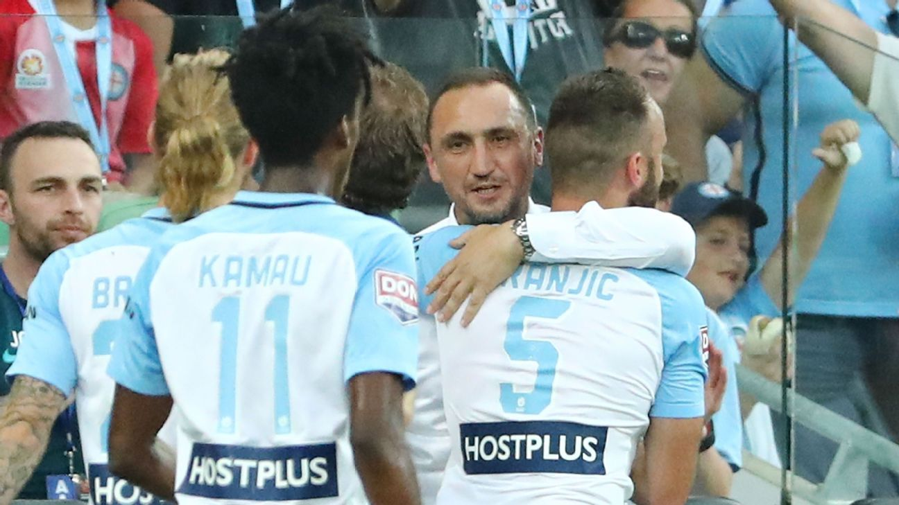 Melbourne City coach Michael Valkanis